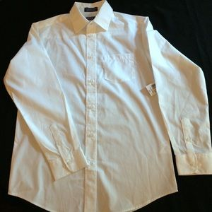NWT IZOD WHITE DRESS BUTTON DOWN MEN'S 16 REGULAR